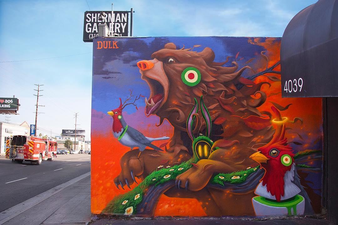 Gli animali surreali di Dulk, la strada diventa una giungla | Collater.al