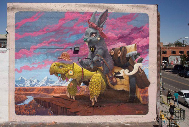 Gli animali surreali di Dulk, la strada diventa una giungla