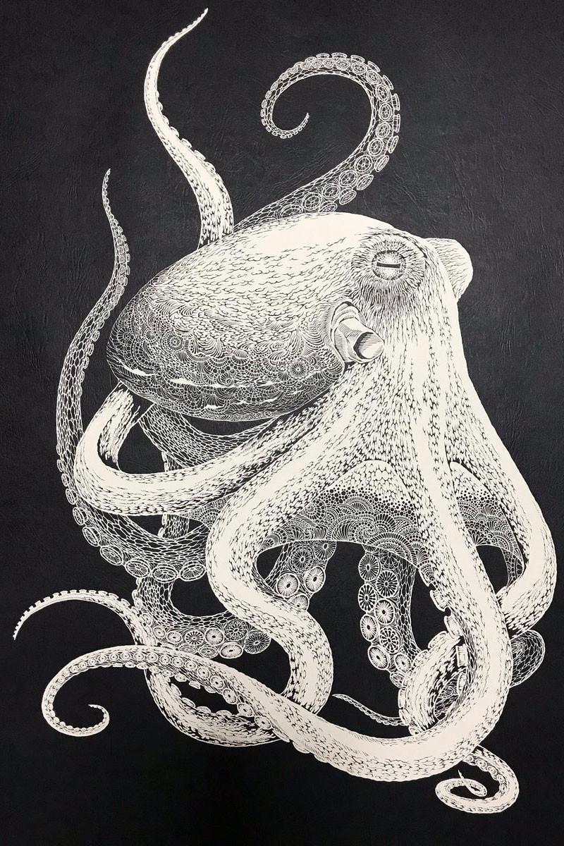 Il Paper Octopus del maestro della carta Masayo Fukuda | Collater.al
