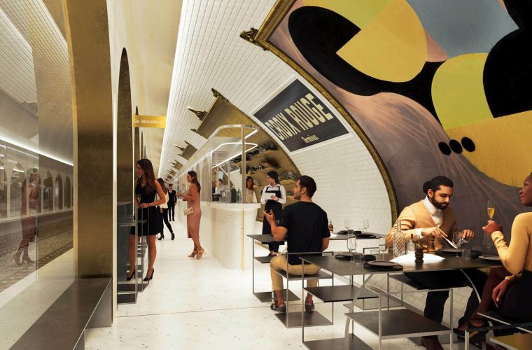 Terminus, a Parisian restaurant that will born from an abandoned metro station