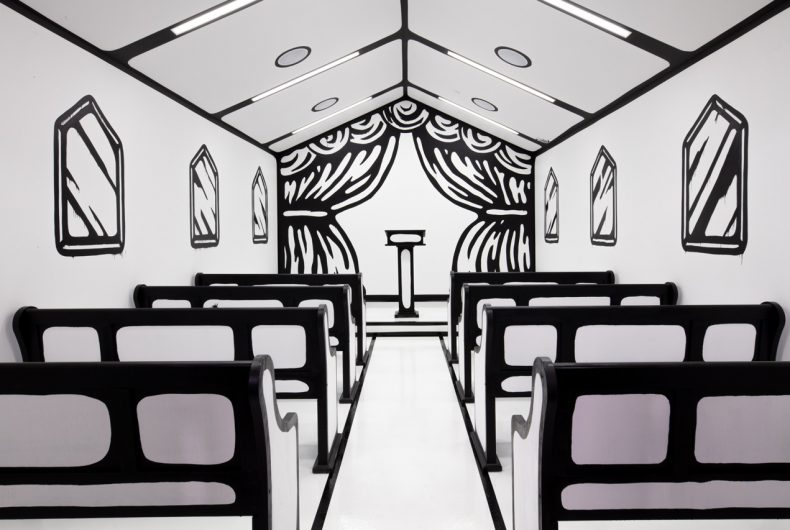 Til Death Do Us Part, Joshua Vides wedding chapel installation