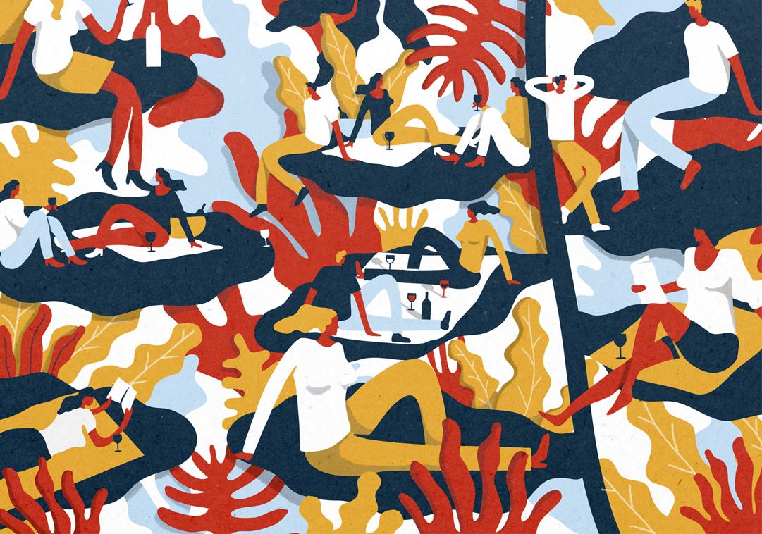 L'armonia delle forme nelle illustrazioni di Quentin Monge | Collater.al