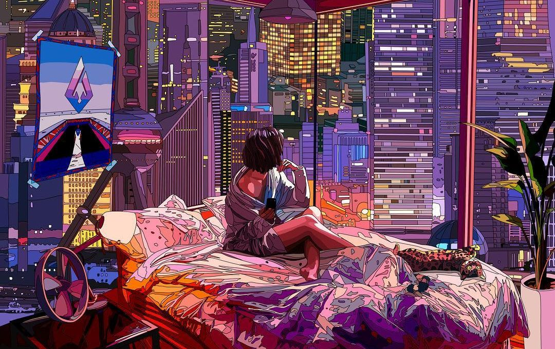 Le illustrazioni di Mad Dog Jones dal perfetto stile cyberpunk