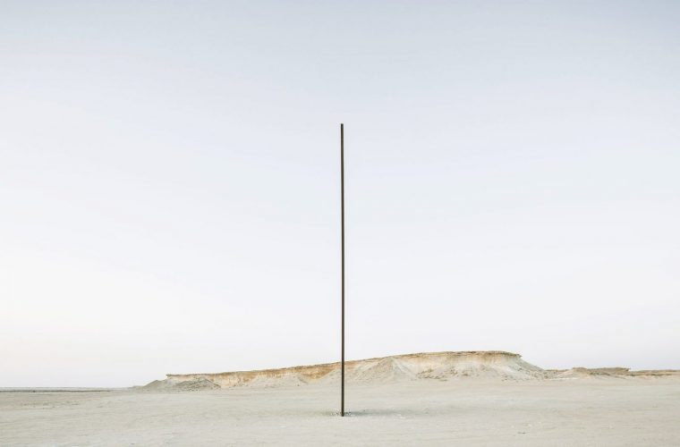 Sculptures in the middle of Qatar's desert by Richard Serra