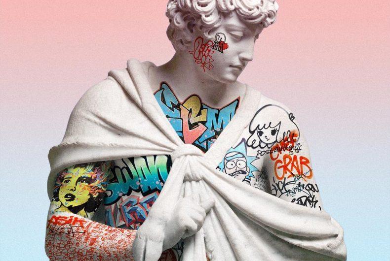 Digital vaporwave sculptures by Litavrin