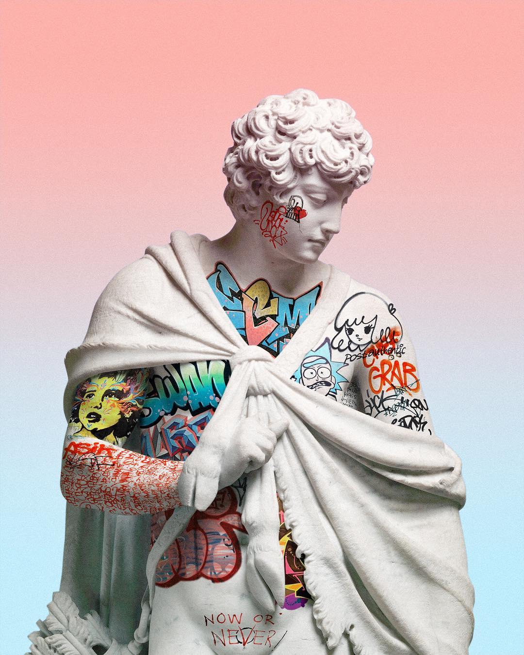 Le sculture vaporwave digitali di Litavrin | Collater.al