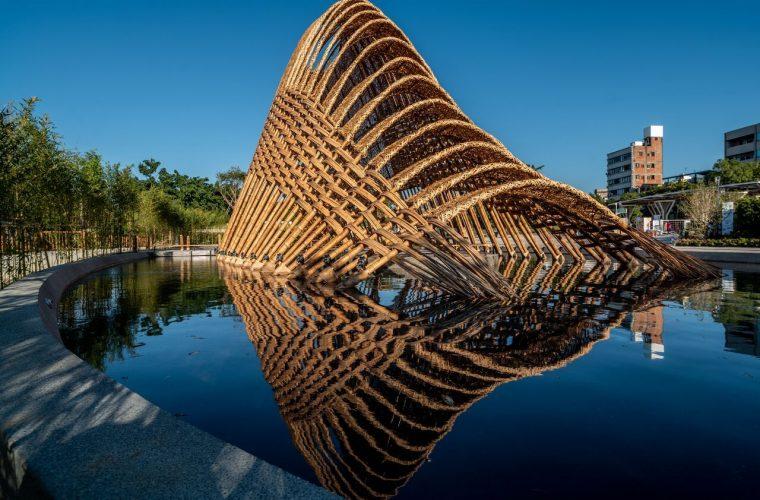 Il Bamboo Pavilion dello studio ZUO, dove architettura e natura si fondono