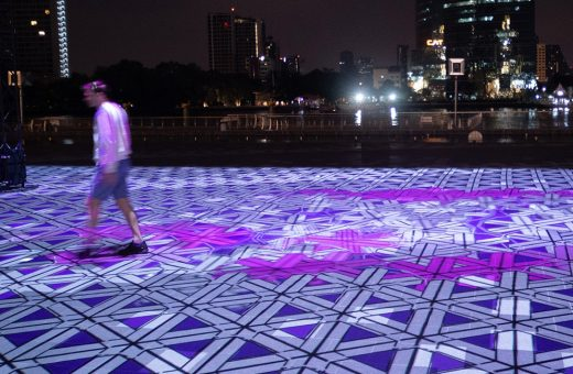 Magic Carpet Bangkok, il tappeto digitale di Miguel Chevalier
