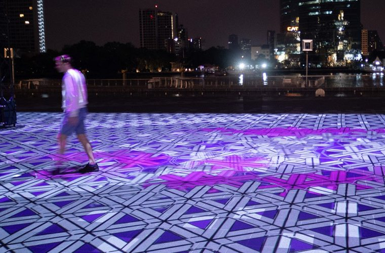 Magic Carpet Bangkok, the digital carpet by Miguel Chevalier