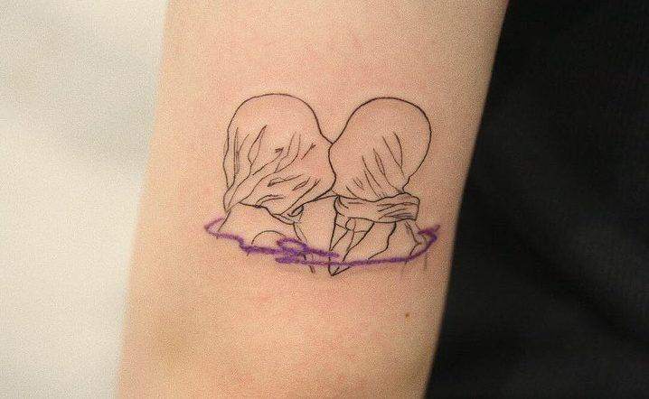 I tatuaggi minimal e con un tocco di colore di tattoo_joojoo