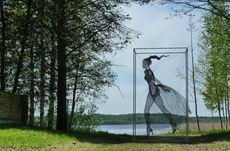 Nadia Zubareva and her wire sculptures