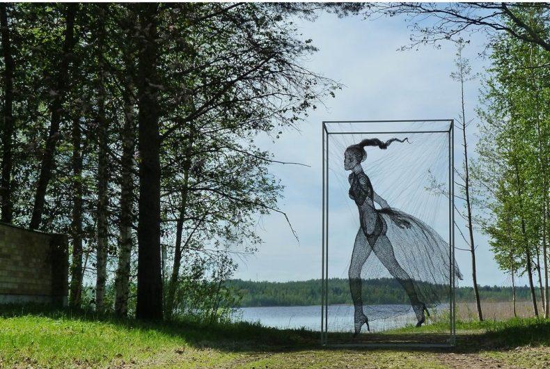 Nadia Zubareva e le sue sculture fatte di fili