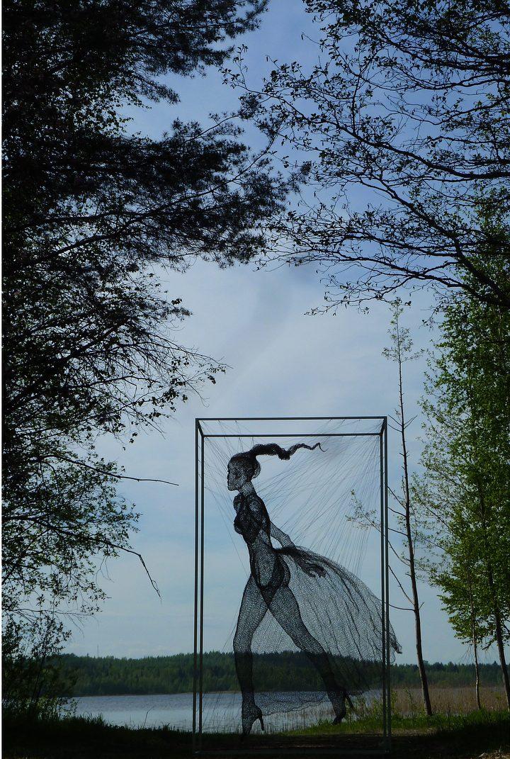 Nadia Zubareva e le sue sculture fatte di fili | Collater.al