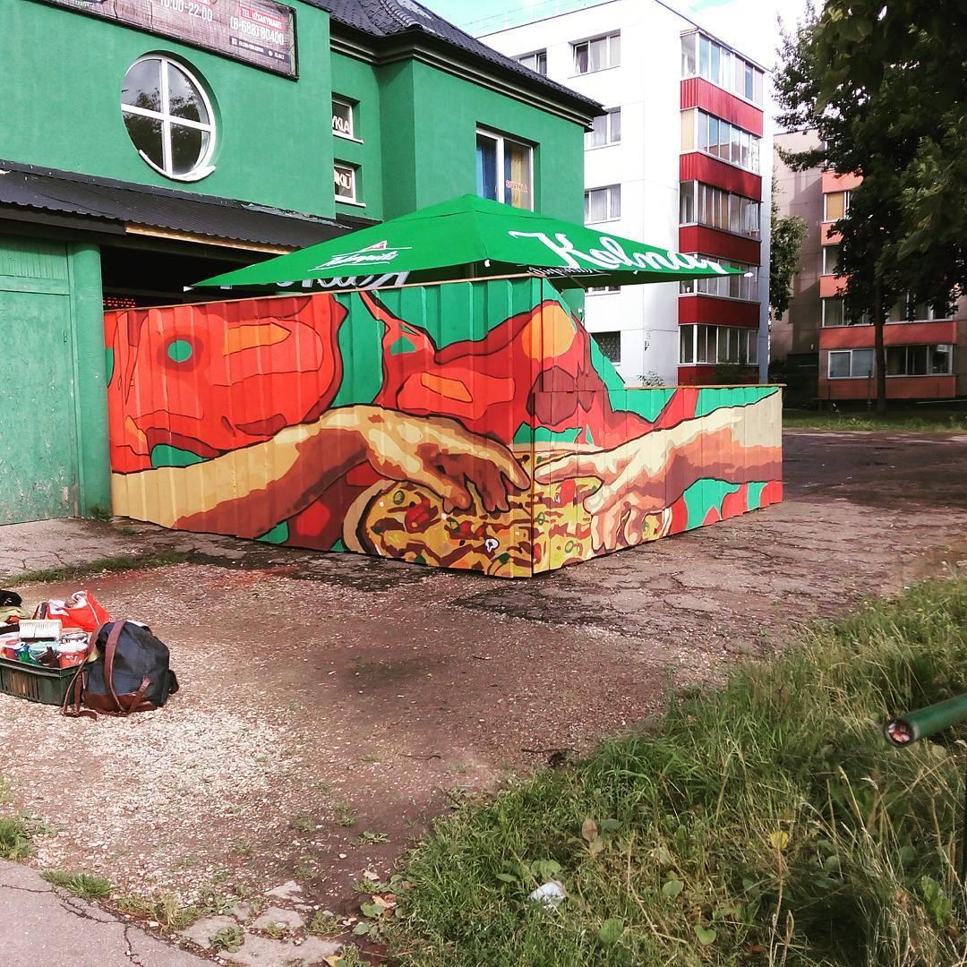 Linas Kaziulionis fonde l'arte classica con la street art | Collater.al