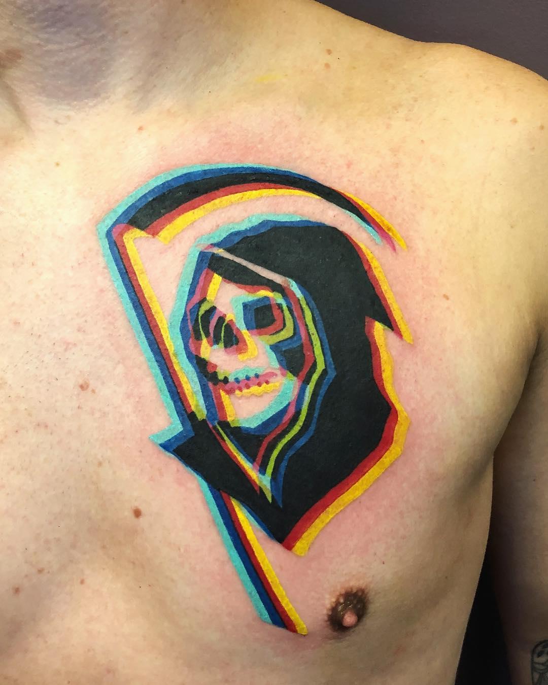 Adam Friedman, tatuaggi che si sdoppiano