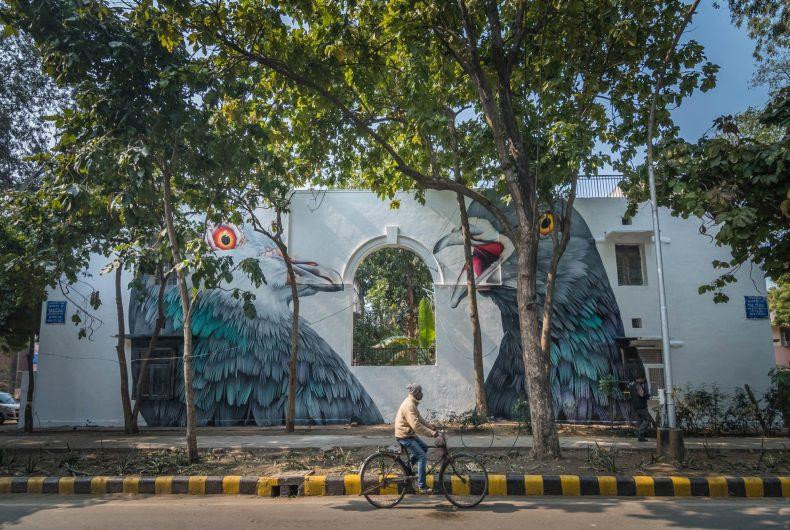 Adele Renault, hyper-realistic street art in Delhi
