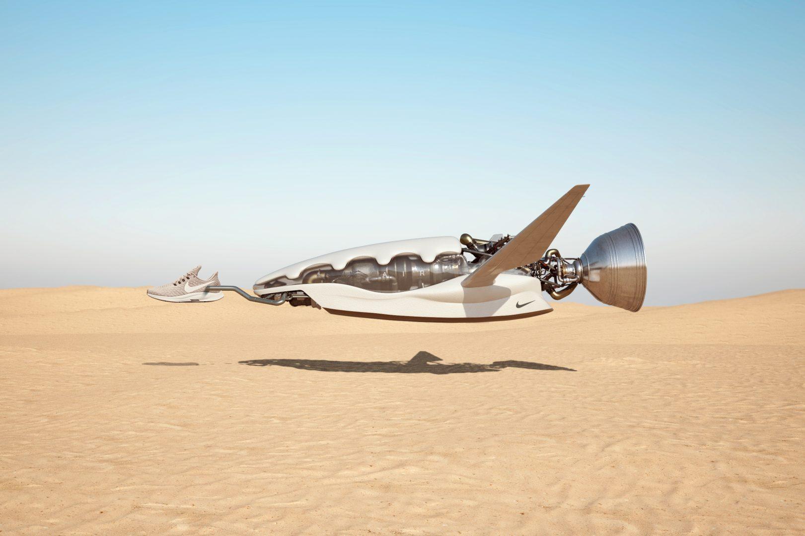 Chris Labrooy trasforma le Nike Pegasus in macchine volanti
