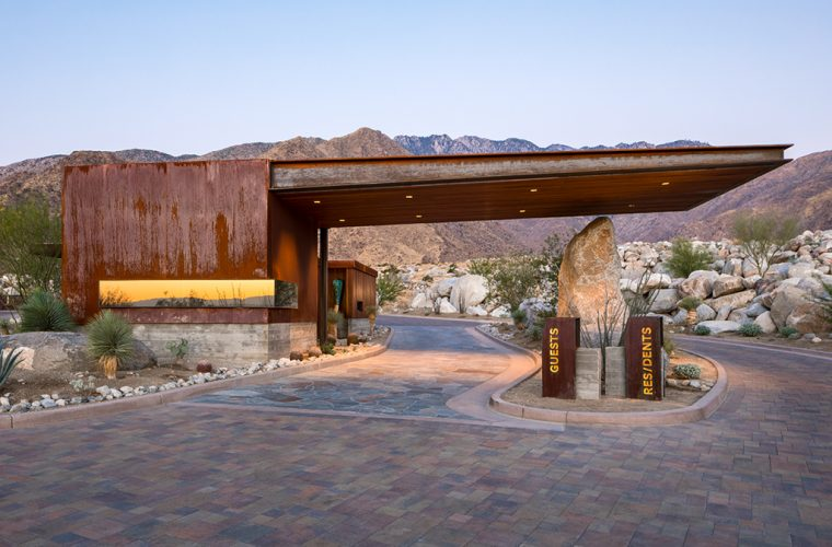 Desert Palisades Guardhouse, tra naturale e artificiale