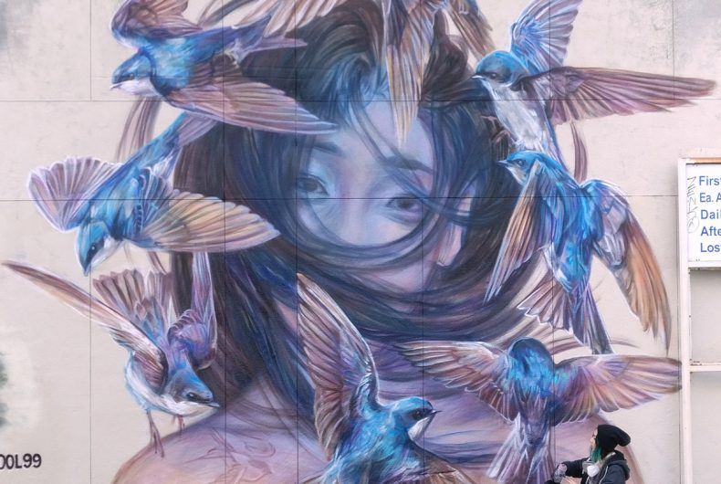 Emily Ding, street art and wild nature in her murals