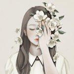 Ensee, illustrazioni di donne fragili come fiori   Collater.al 12