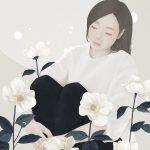 Ensee, illustrazioni di donne fragili come fiori   Collater.al 3
