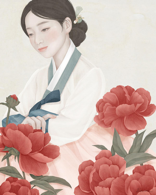 Ensee, illustrazioni di donne fragili come fiori | Collater.al