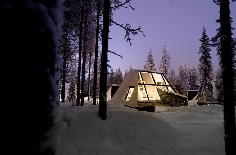 Glass Resort, the glass hotel at the Arctic Circle