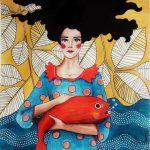 Hülya Özdemir ritrae le donne nei suoi acquerelli | Collater.al 10