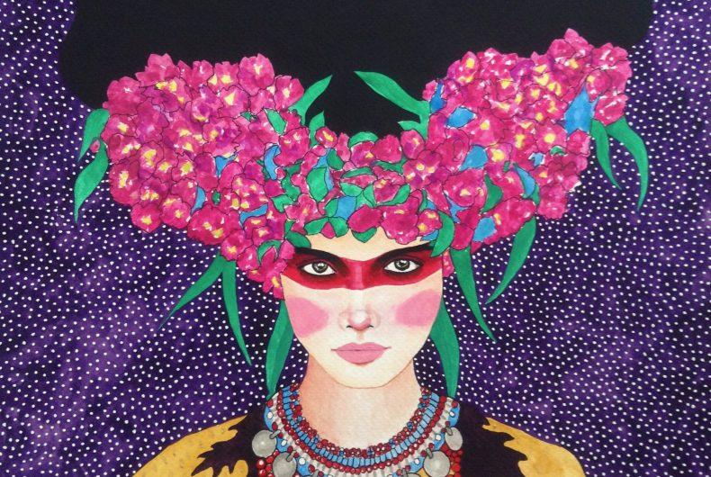 Hülya Özdemir ritrae le donne nei suoi acquerelli