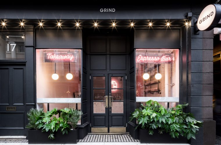 The Grind restaurant in London signed by Biasol