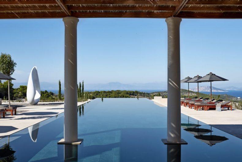 Il luxury hotelAmanzoe è il paradiso della Grecia