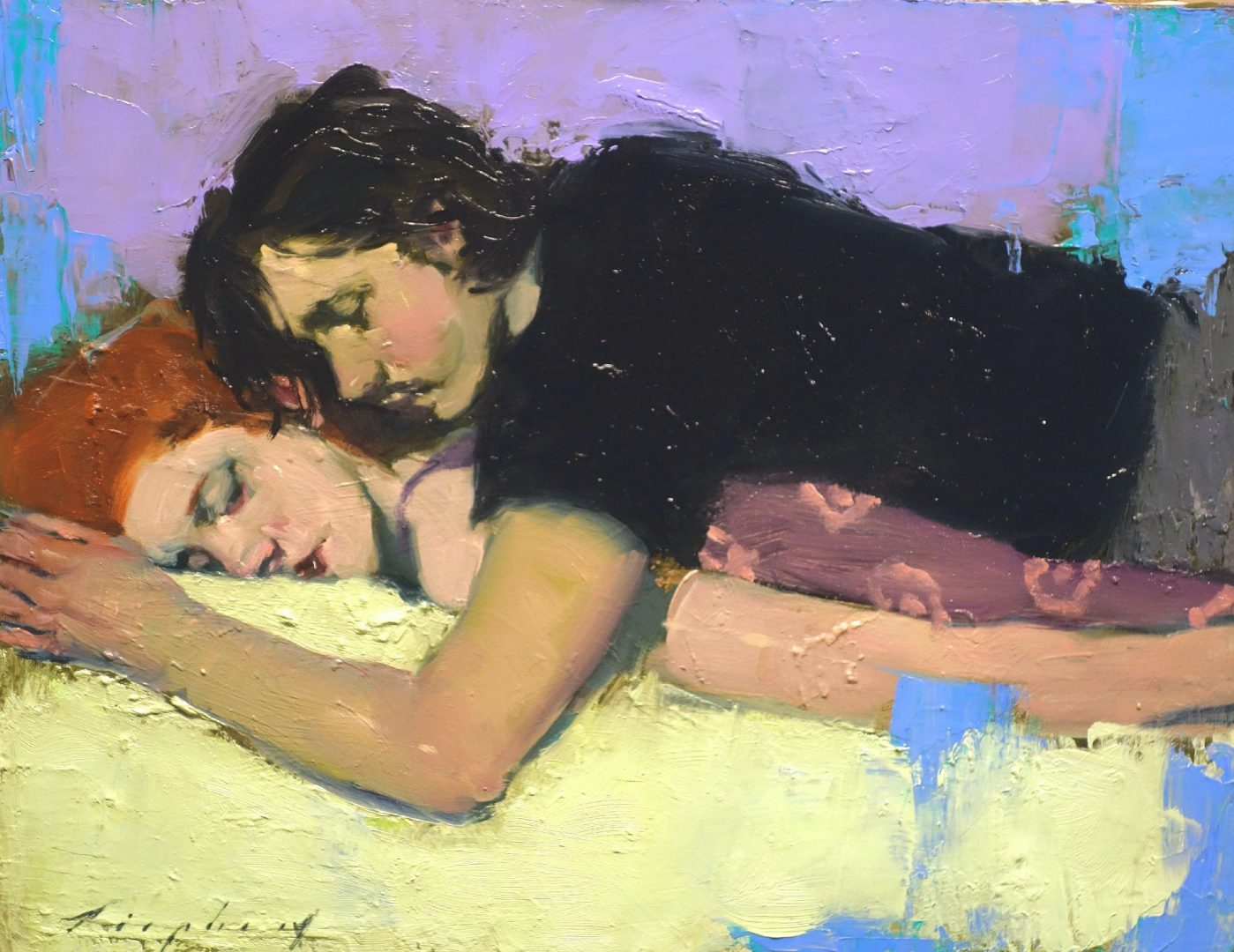 Malcolm T. Liepke dipinge le emozioni più profonde