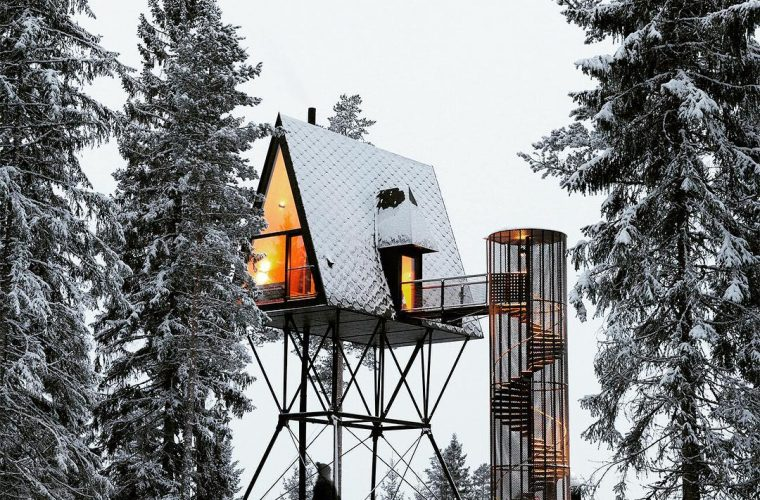 PAN Treetop Cabins, una moderna cabina nei boschi norvegesi