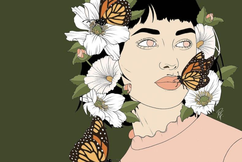 Reality is pastel in Rebecca Flattley's illustrations