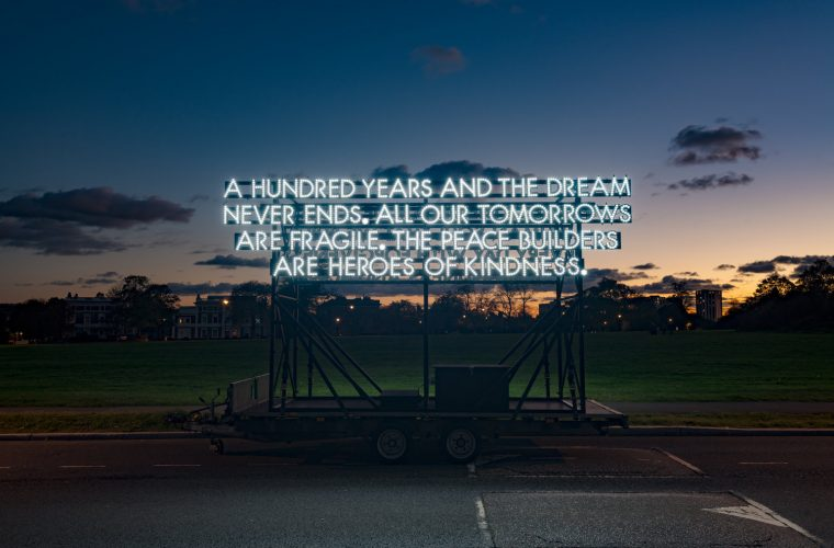 Robert Montgomery, short poems made of neon