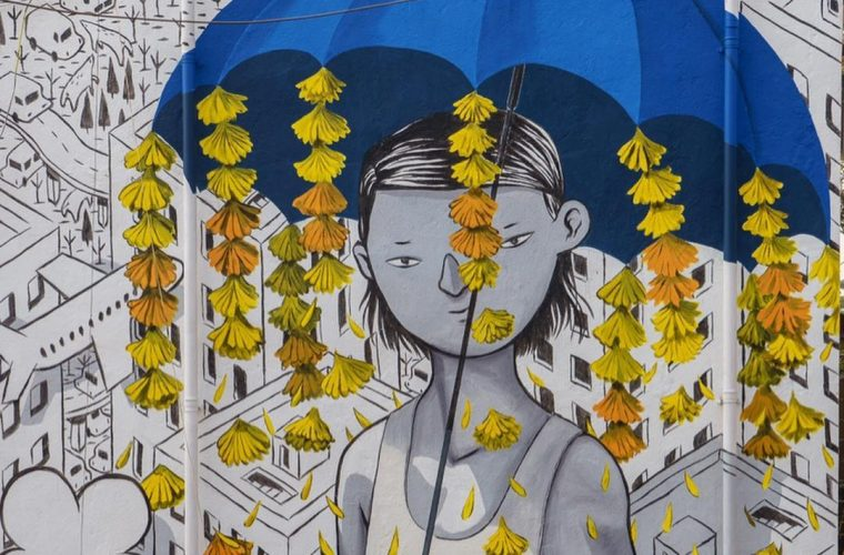 Future, Millo's murale that brings art to the slum of Dharavi