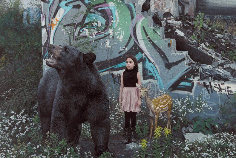 Bambini e animali si incontrano nei quadri di Kevin Peterson