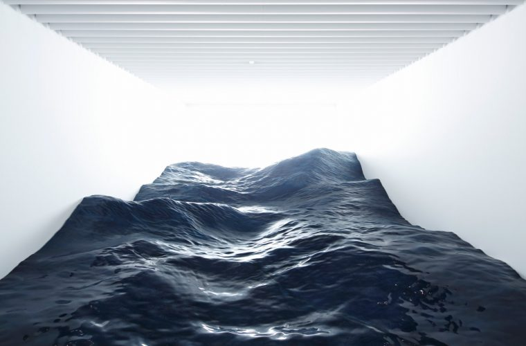 Contact, the installation that brings the sea into a room