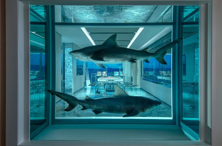 Palms Casino Resort by Damien Hirst: sharks and butterflies