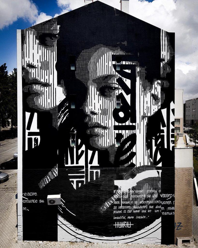 Huariu, street art tribale in bianco e nero | Collater.al