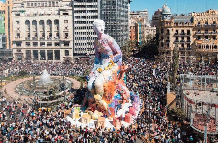 PichiAvo's sculpture for the Las Fallas festival in Valencia