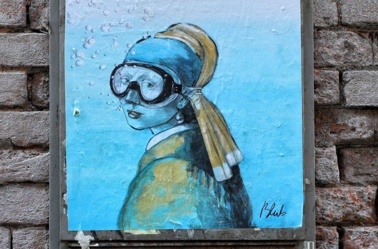 L'arte sa nuotare e la street art di Bulb