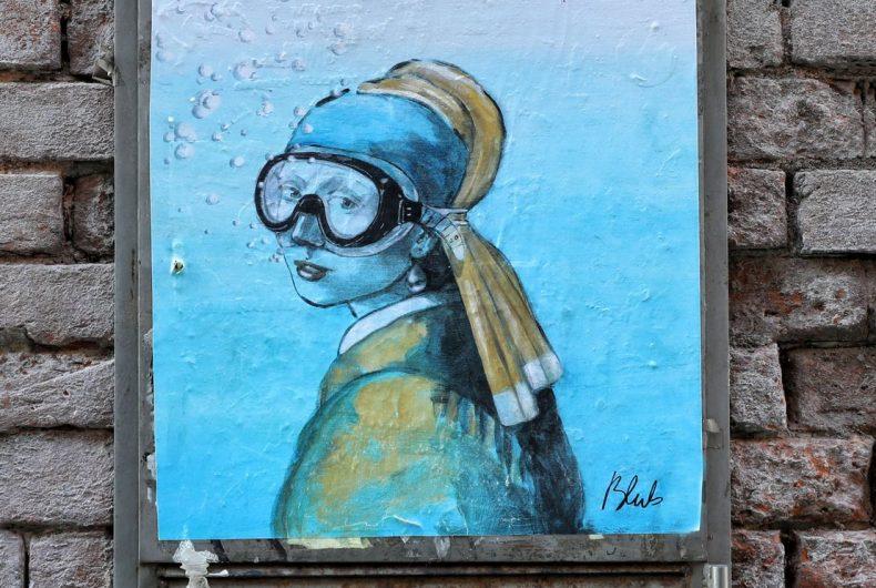 L'arte sa nuotare e la street art di Blub
