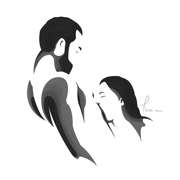 Catalin Gellen and his NSFW black and white illustrations   Collater.al