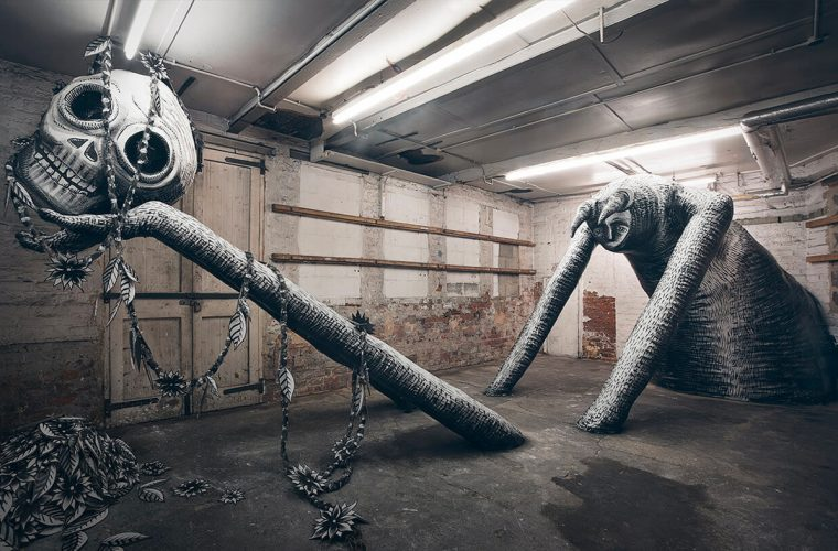 Mausoleum of the Giants, la nuova opera di Phlegm a Sheffield