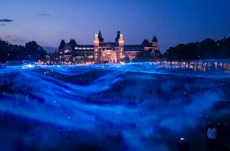 Waterlicht, a virtual flooding made of lights
