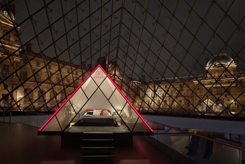 Airbnb makes you sleep inside the Louvre Pyramid