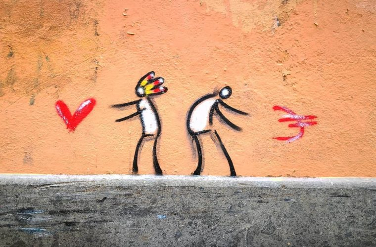Exit Enter, street art of few lines for a great result