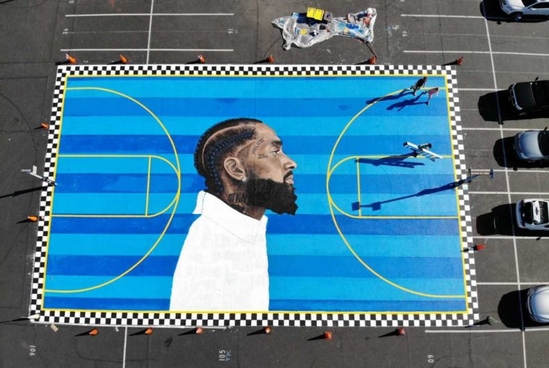 The L.A mural in memory of Nipsey Hussle