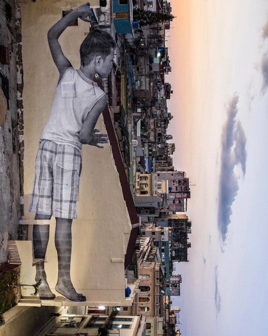 La nuova opera di JR alla Biennale dell'Avana a Cuba
